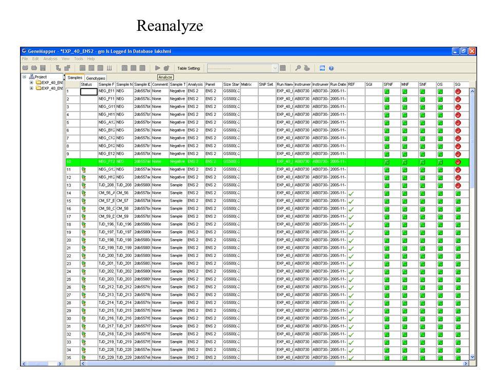 Reanalyze