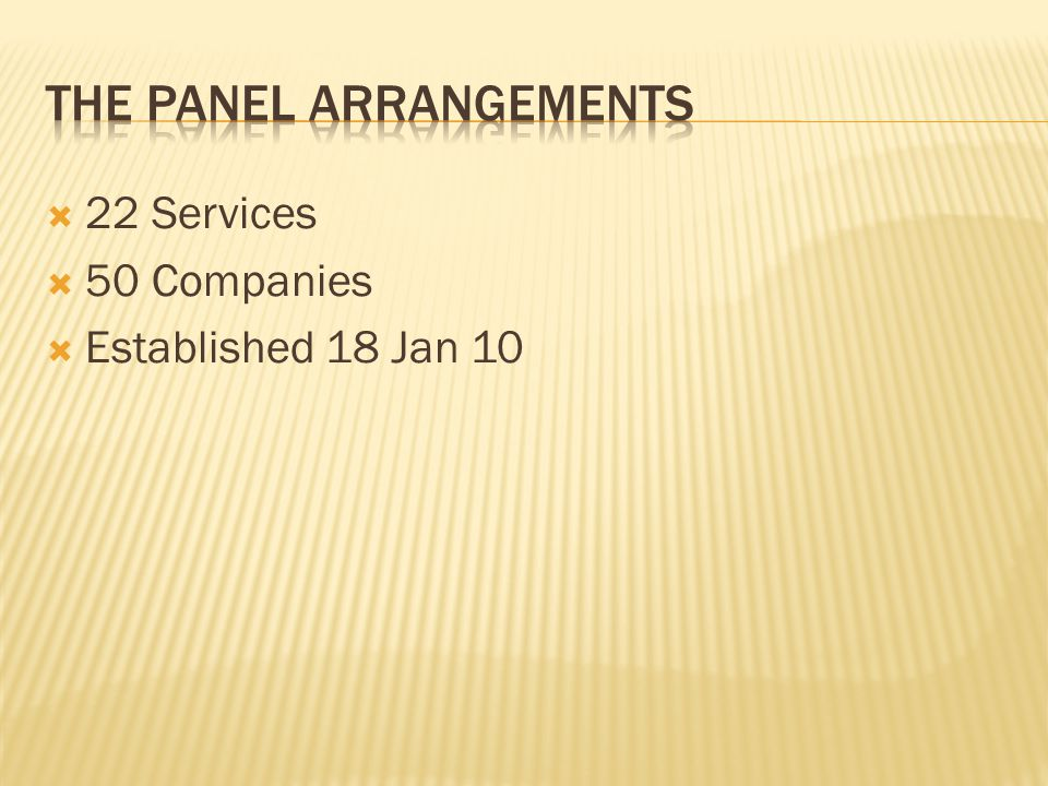 The Panel is a whole of Commonwealth panel.
