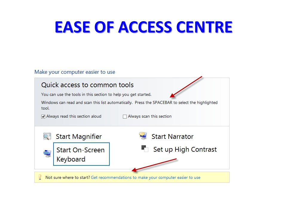 EASE OF ACCESS CENTRE