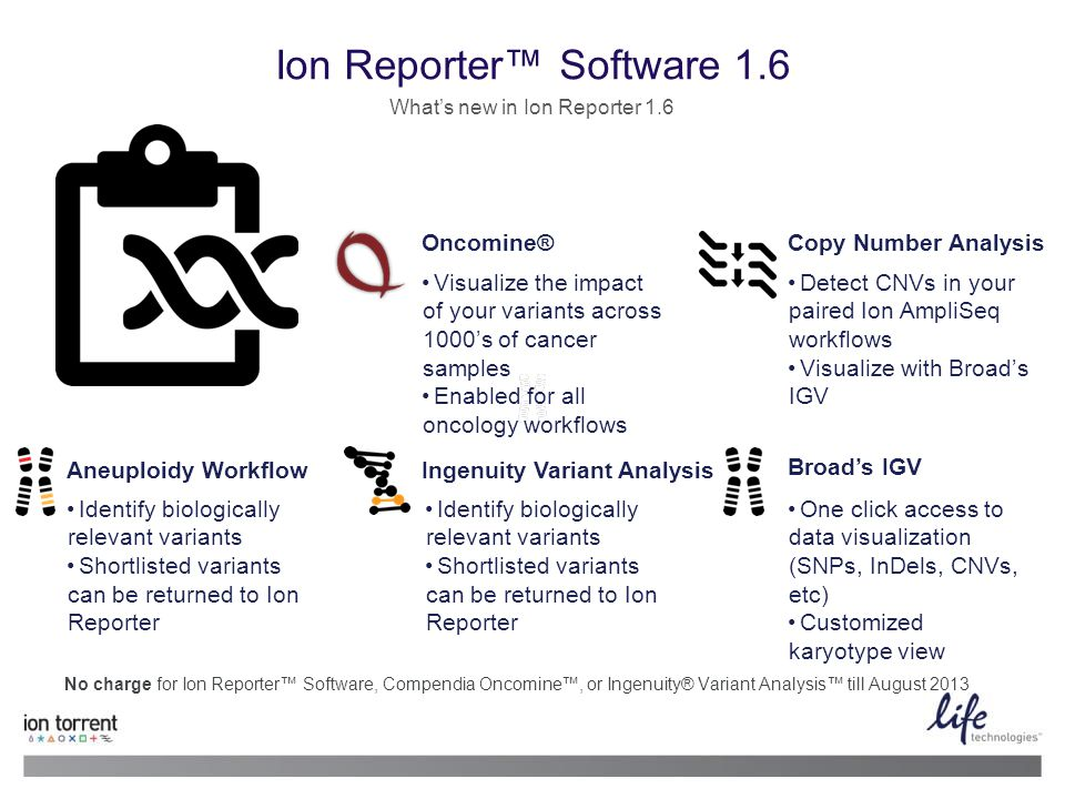 10 13 June 2014 | Life Technologies Proprietary and Confidential Ion Reporter Software 1.6 Whats new in Ion Reporter 1.6 No charge for Ion Reporter So