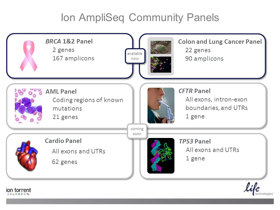 9 13 June 2014 | Life Technologies Proprietary and Confidential Ion AmpliSeq Community Panels AML Panel Coding regions of known mutations 21 genes AML