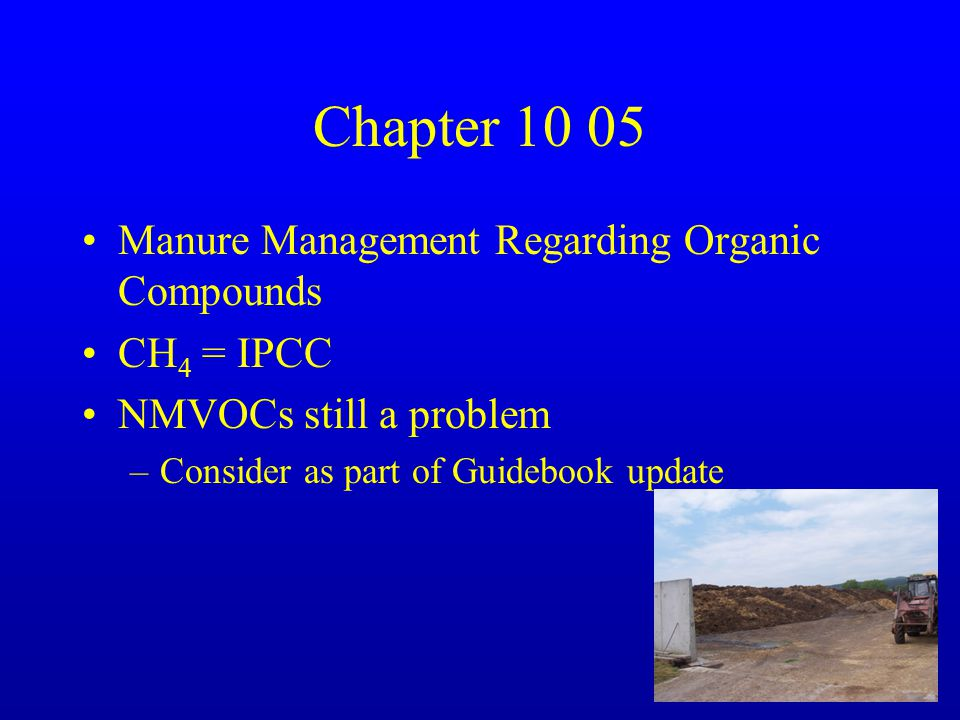 Chapter 10 06 Pesticides and Limestone –Harmonize with IPCC –No other changes