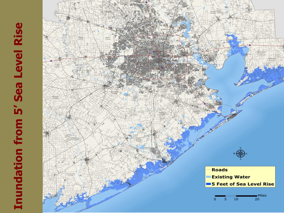 Inundation from 5 Sea Level Rise