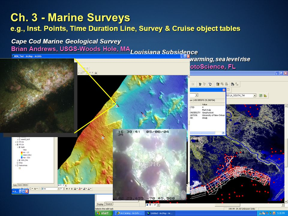 ESRI User Conference 2007 Ch. 3 - Marine Surveys e.g., Inst.