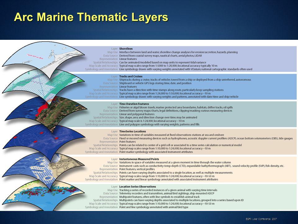 ESRI User Conference 2007 Arc Marine Thematic Layers