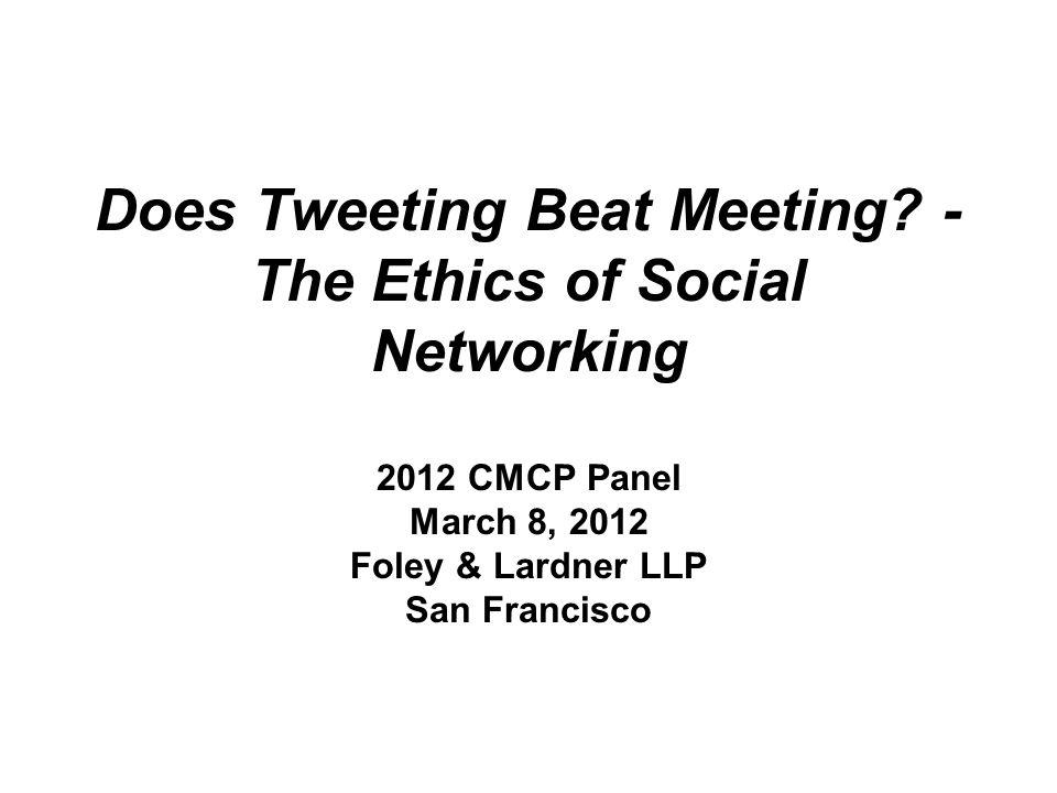Does Tweeting Beat Meeting.