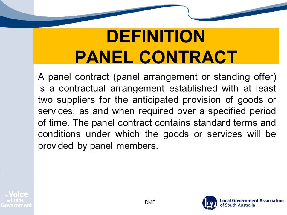 Head Agreement – might be used this defines the relationship between the Aggregator and the Suppliers on the Panel – any administration fee arrangements, sales reporting, performance management requirements etc.