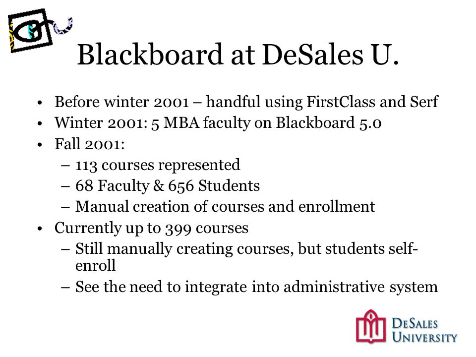 Blackboard at DeSales U.