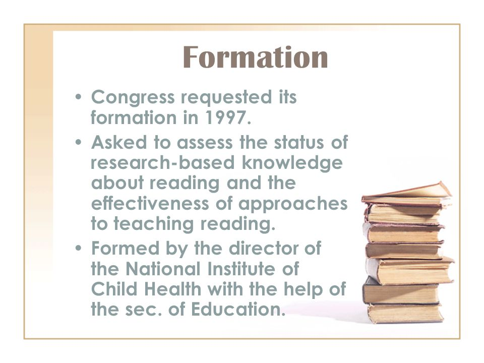 Formation Congress requested its formation in 1997.