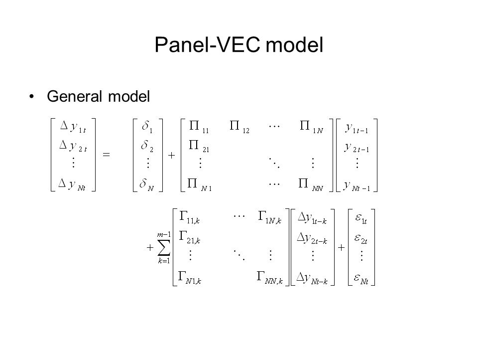 Panel-VEC model General model