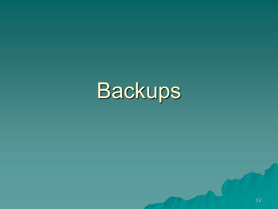 12 Backups