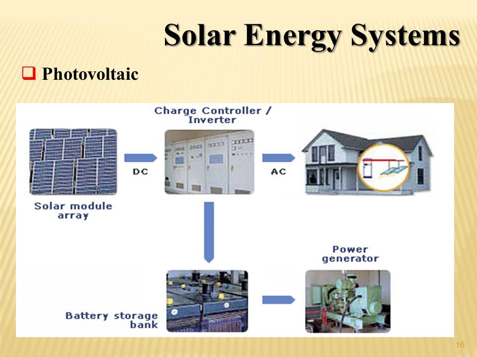Solar Energy Systems 16 Photovoltaic