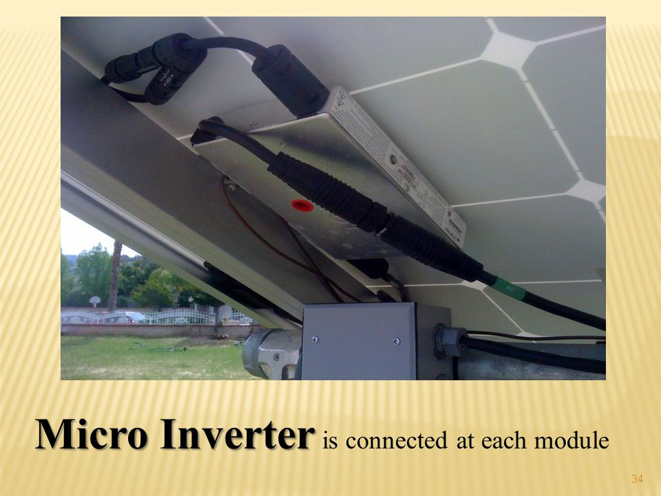 34 Micro Inverter Micro Inverter is connected at each module