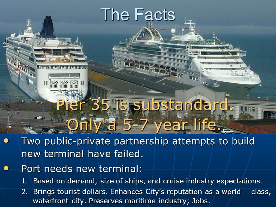 The Facts Two public-private partnership attempts to build new terminal have failed.