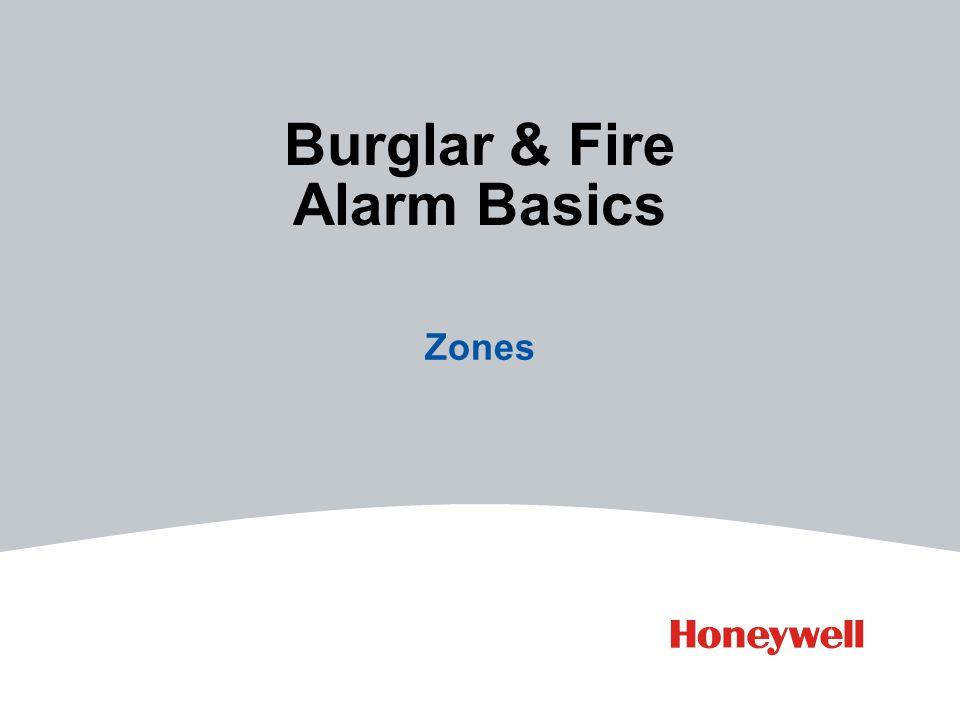 Burglar & Fire Alarm Basics Zones
