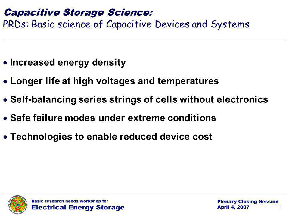 p. 29 29 Increased energy density Longer life at high voltages and temperatures Self-balancing series strings of cells without electronics Safe failur