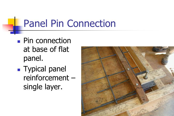 Panel Pin Connection Pin connection at base of flat panel.
