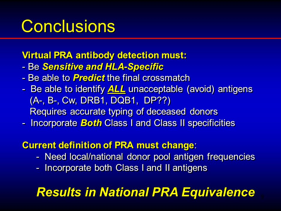 10 PURPOSE OF CROSSMATCH TO INFORM THE CLINICIAN/SURGEON OF THE RISK* FOR: –PRESENCE OF DSA (DONOR SPECIFIC ANTIBODIES) –HYPERACUTE REJECTION –HUMORAL REJECTION * (not contraindication)