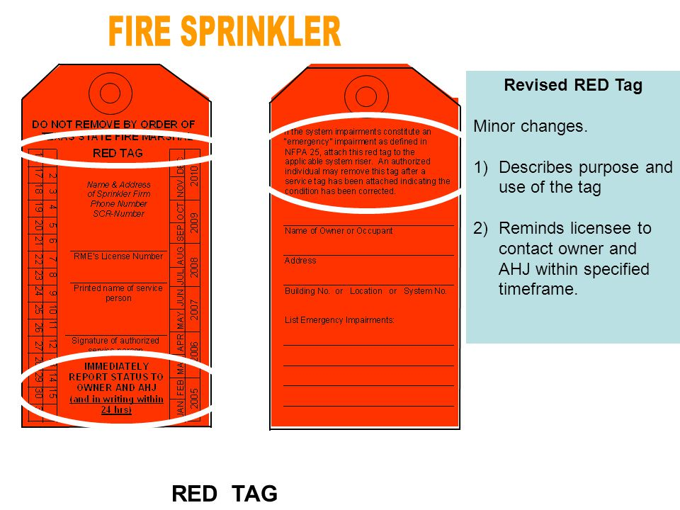 Revised RED Tag Minor changes.