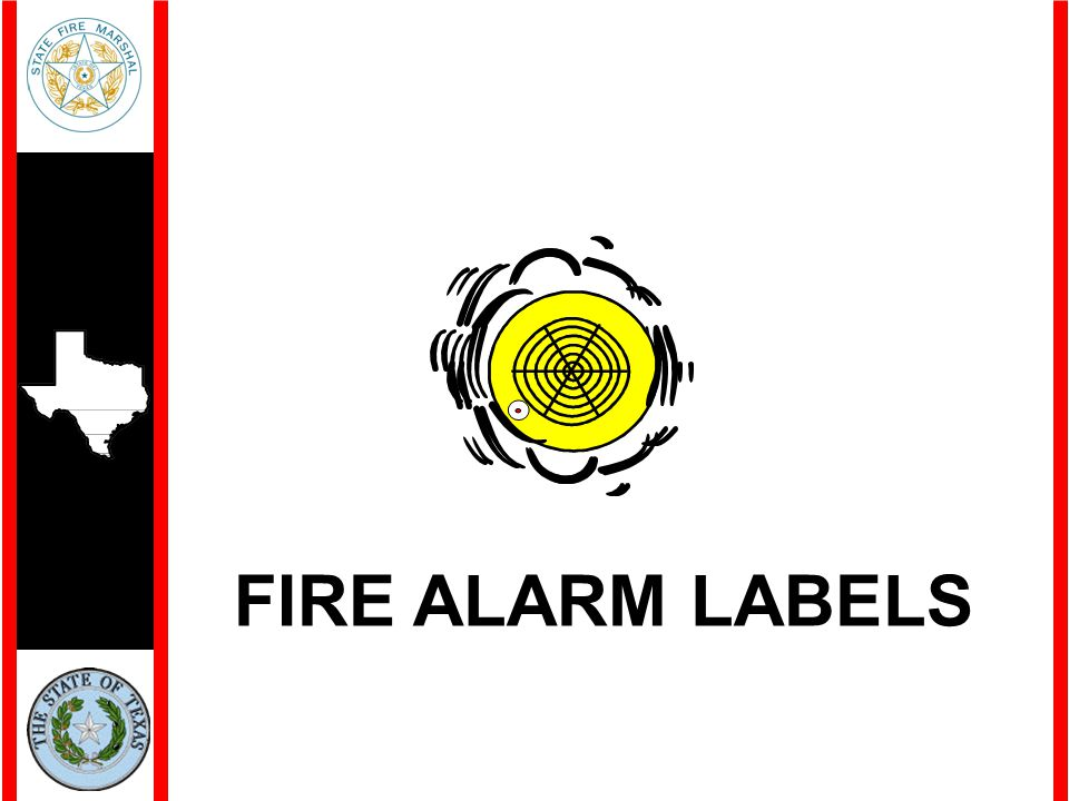 FIRE ALARM LABELS
