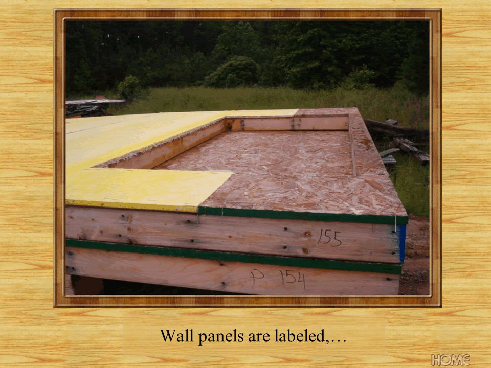 Wall panels are labeled,…