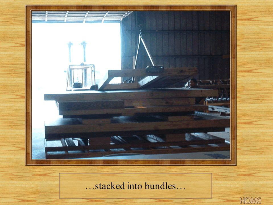 …stacked into bundles…