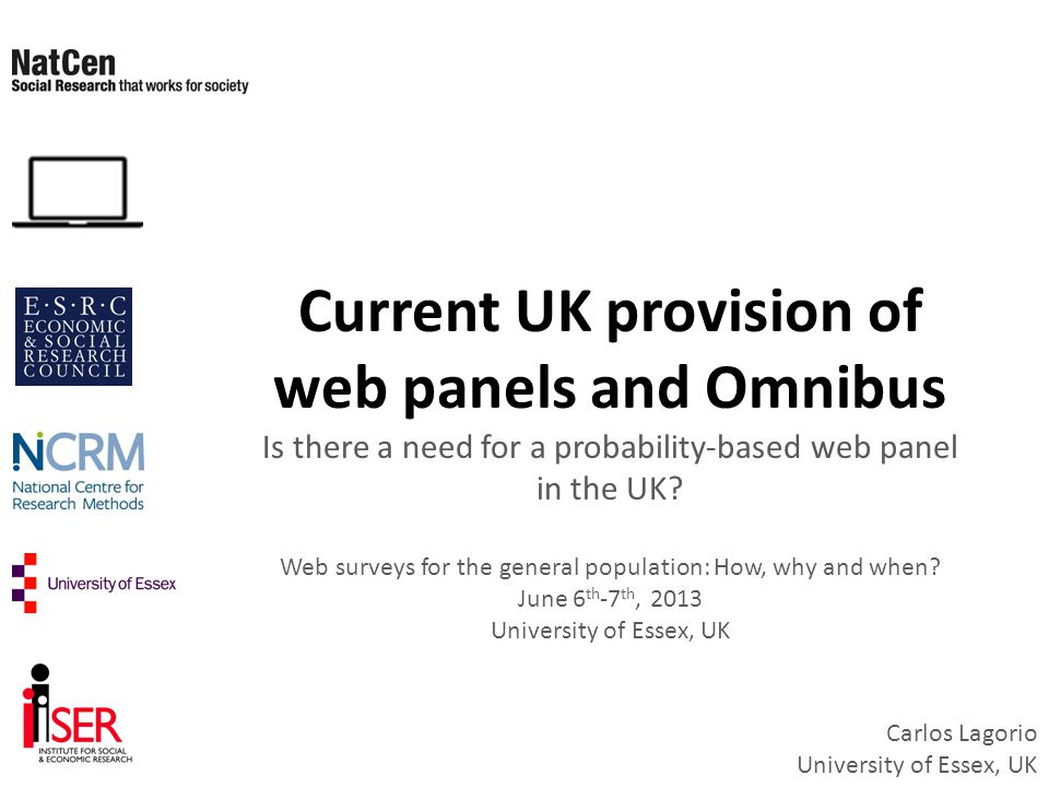 Current UK provision of web panels and Omnibus Is there a need for a probability-based web panel in the UK.