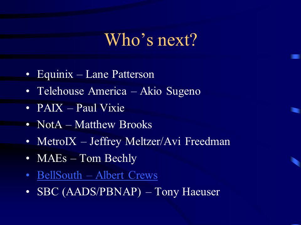 Whos next.