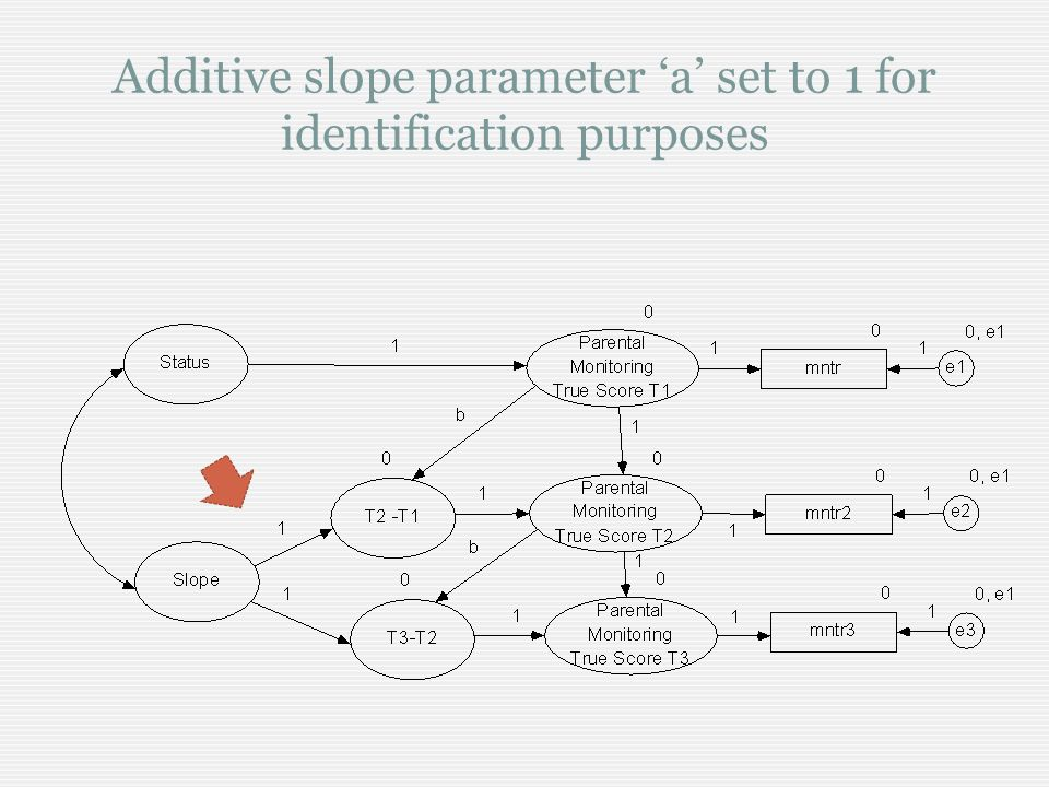 Additive slope parameter a set to 1 for identification purposes