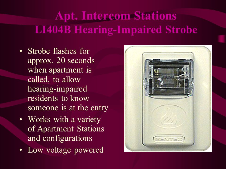 At Alpha Communications® we are here for your Apartment Intercom needs.