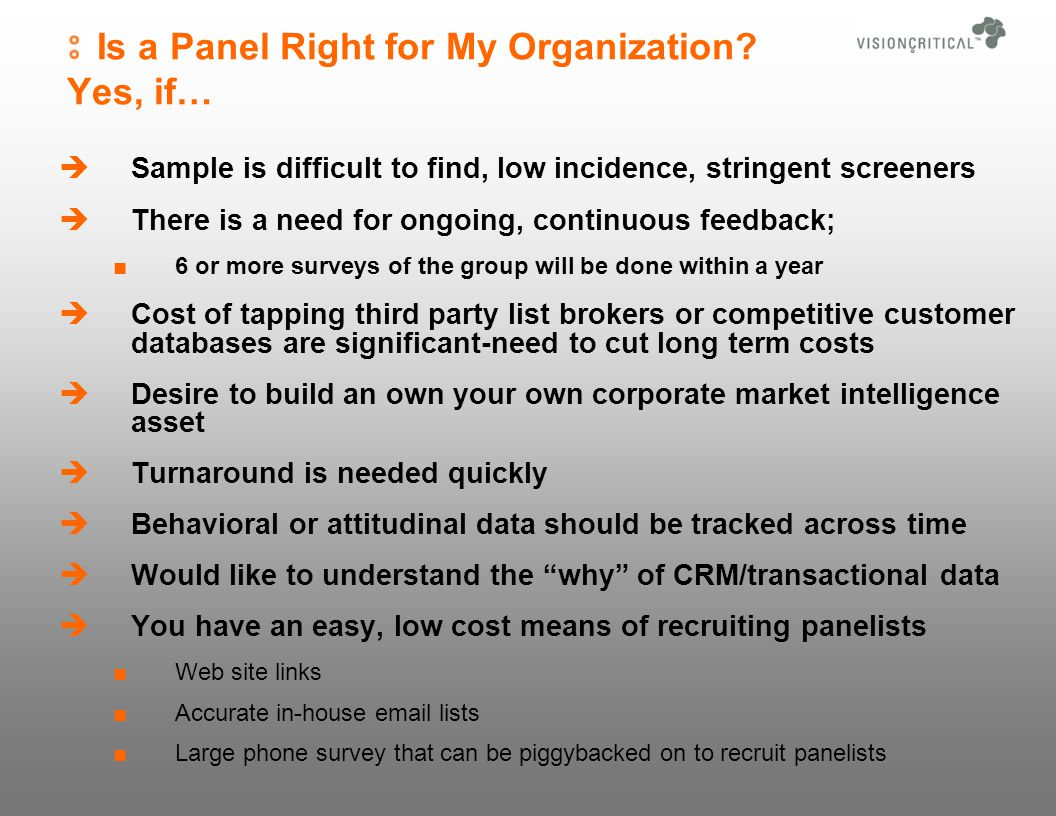 Is a Panel Right for My Organization.
