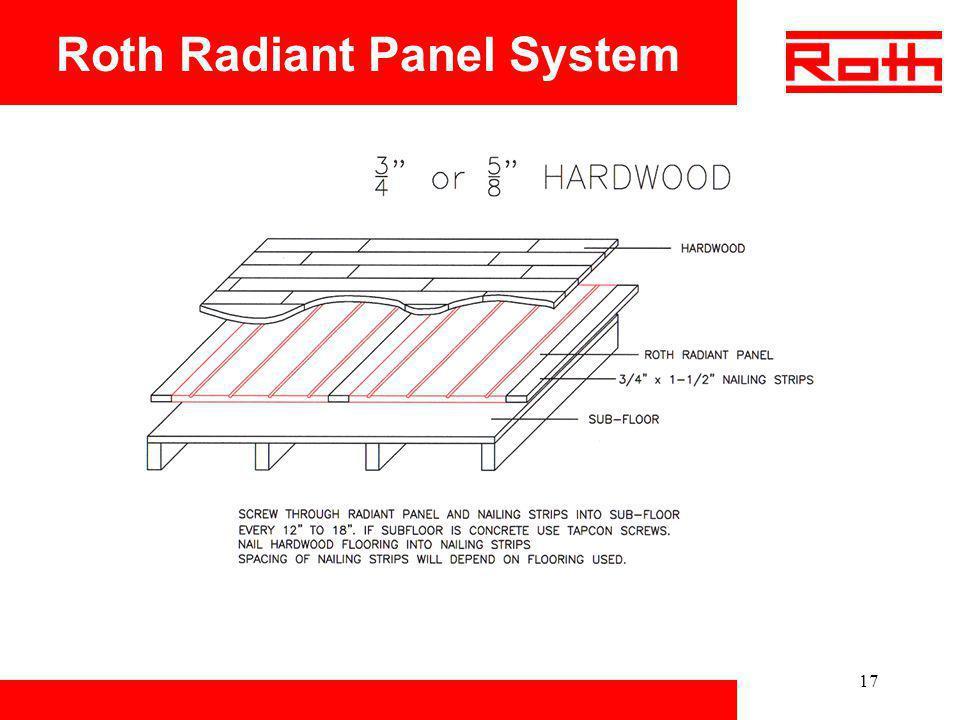 17 Roth Radiant Panel System