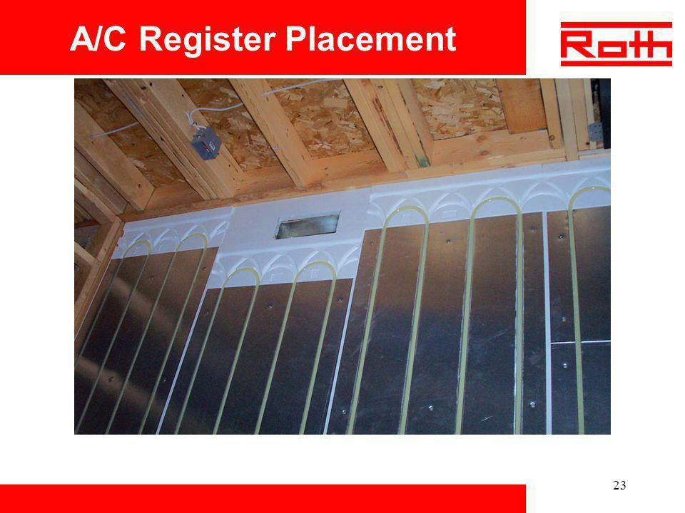 23 A/C Register Placement
