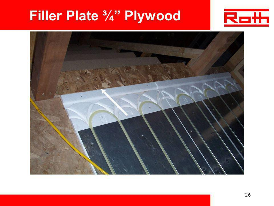 26 Filler Plate ¾ Plywood