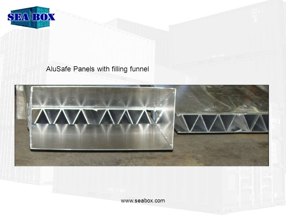 AluSafe Panels with filling funnel
