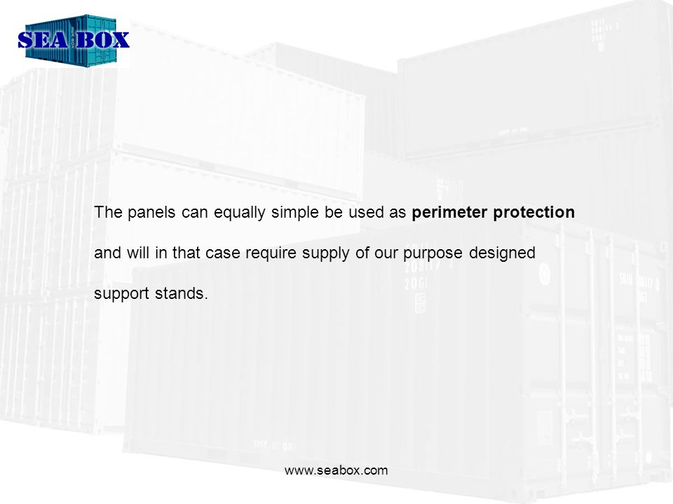 www.seabox.com Compared to ceramic tiles, Kevlar, composite materials, steel etc cost of AluSafe is approximately 70% less.