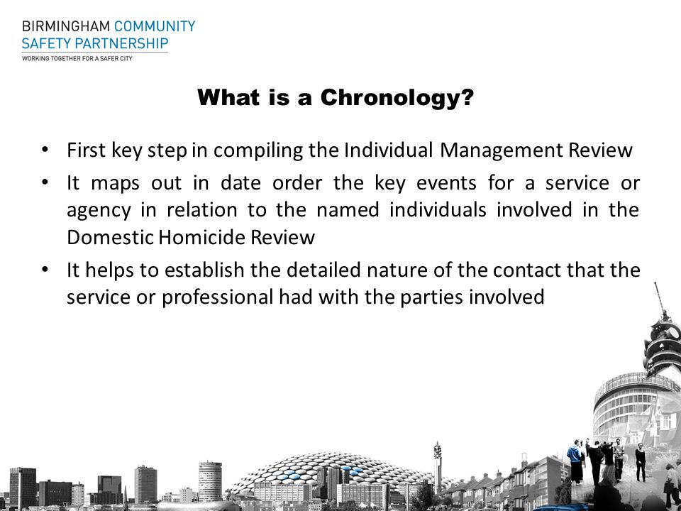 What is a Chronology.