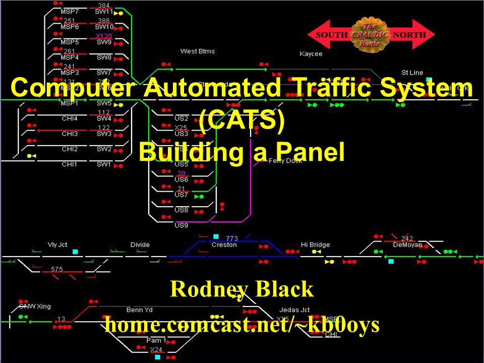 Rodney Black home.comcast.net/~kb0oys Computer Automated Traffic System (CATS) Building a Panel
