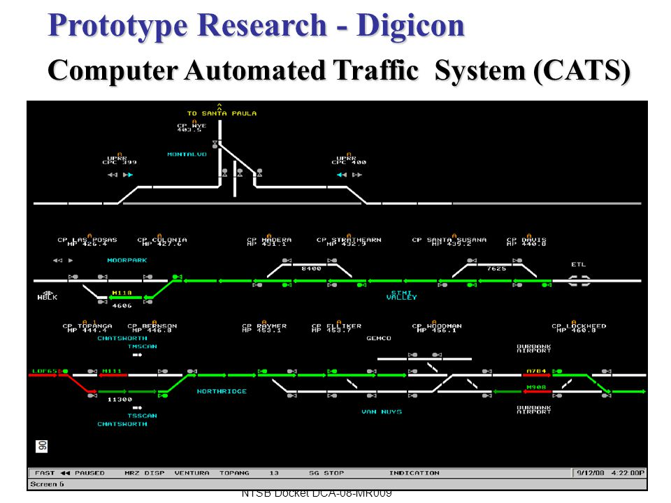 Prototype Research - Digicon Computer Automated Traffic System (CATS) NTSB Docket DCA-08-MR009