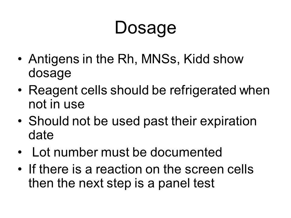 Interpretation Presence or absence of agglutination is important Positive reactions include the phase and the strength of the reaction Single alloantibodies tend to give clear reaction patterns Negative reactions allow for exclusions of antibodies to antigens expressed on the nonreactive cells
