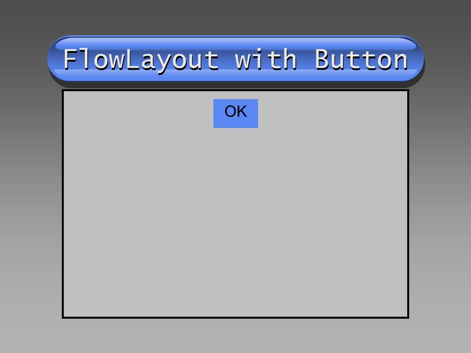 FlowLayout with Button OK