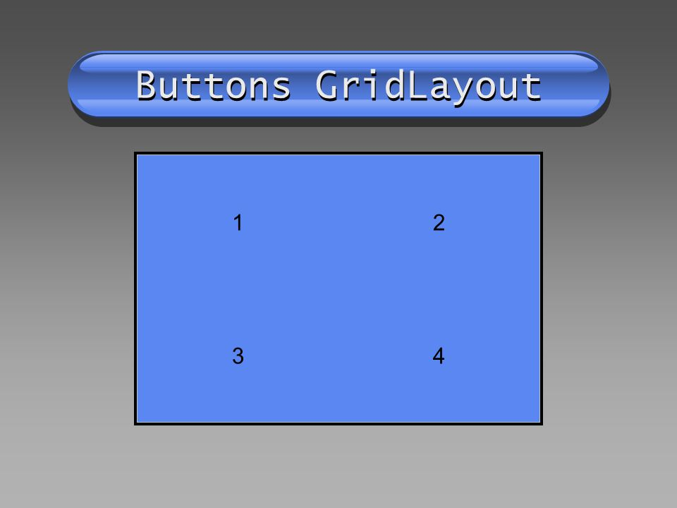 Buttons GridLayout 12 34