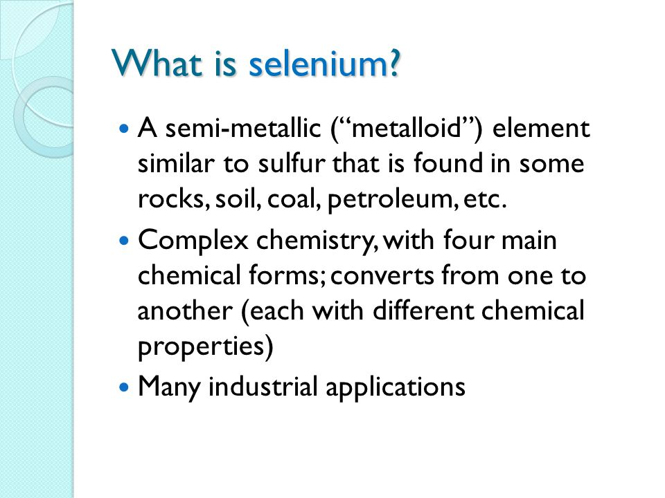 What is selenium.