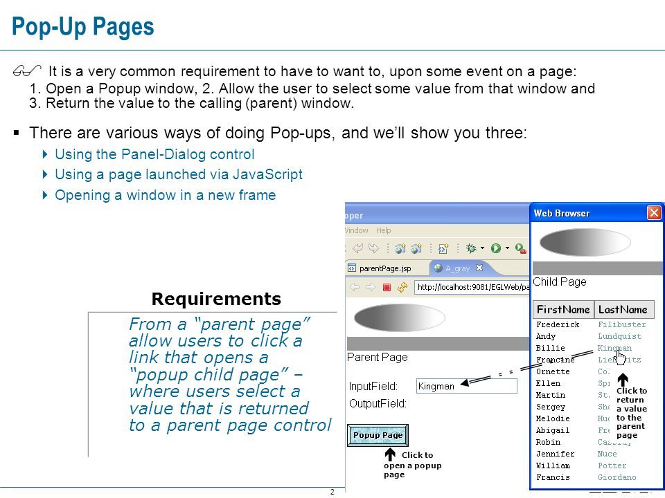 13 Using the JSF Panel-Dialog Component – Using AJAX for Dynamic Content – 3 of 4 Using the JSF Panel-Dialog Component – Using AJAX for Dynamic Content – 3 of 4 Select the dialog4 (Panel-Dialog you just added to the page).