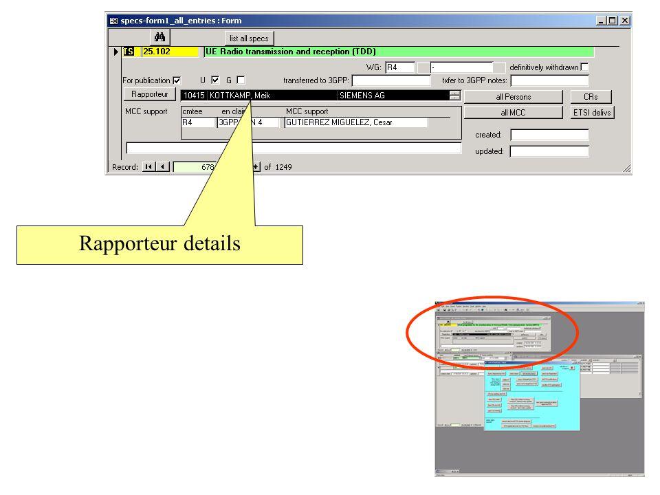 Rapporteur details