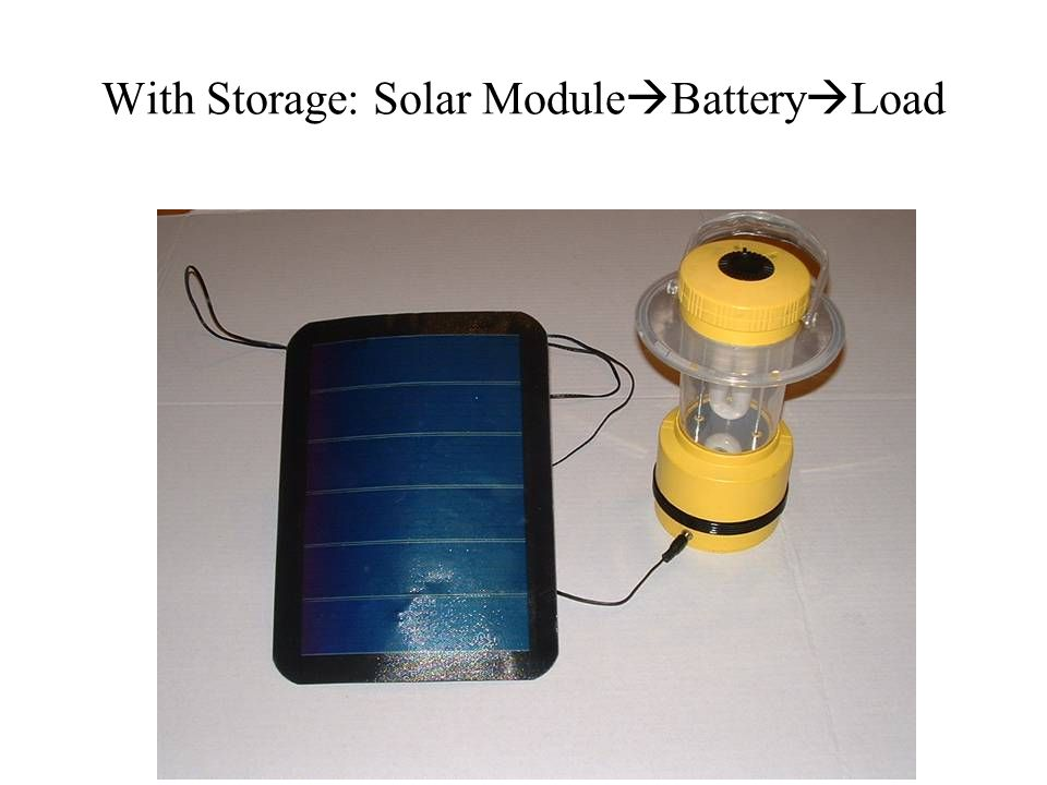 With Storage: Solar Module Battery Load