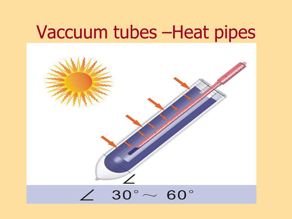 Vaccuum tubes –Heat pipes