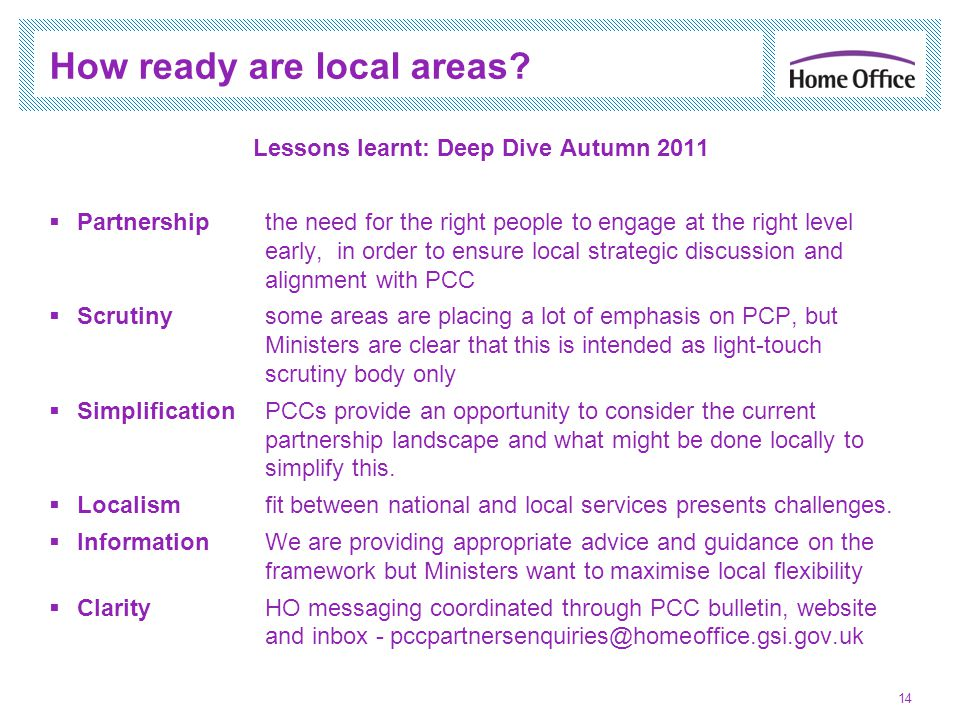 How ready are local areas.