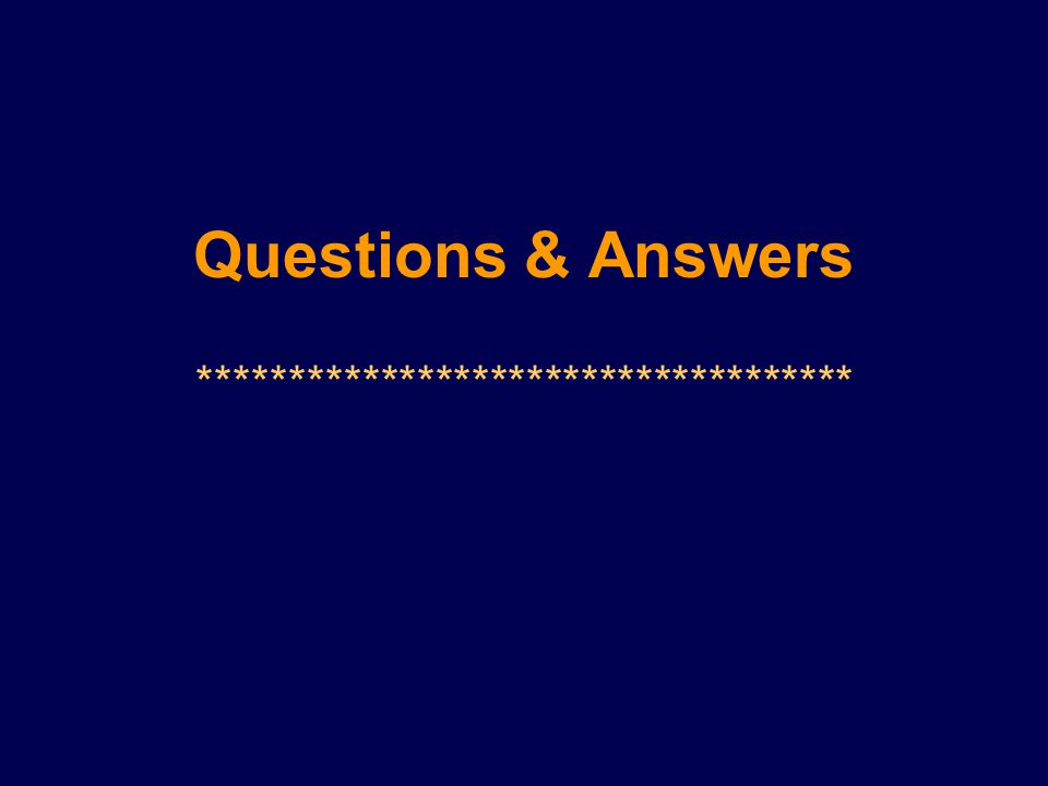 Questions & Answers ************************************