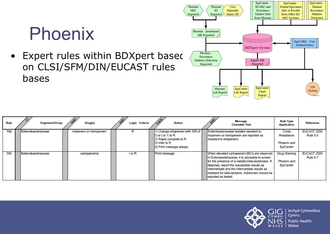 Phoenix Expert rules within BDXpert based on CLSI/SFM/DIN/EUCAST rules bases